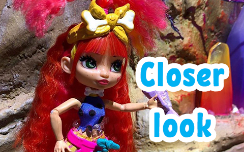 Closer look at the new dolls from Mattel - the Cave Club