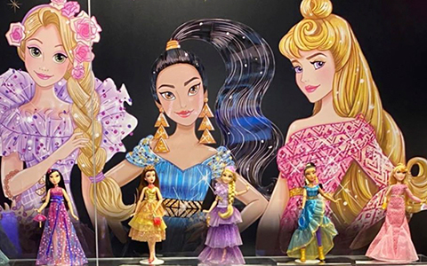 New dolls in Hasbro Disney Princess Style Series: Rapunzel, Jasmine and Aurora