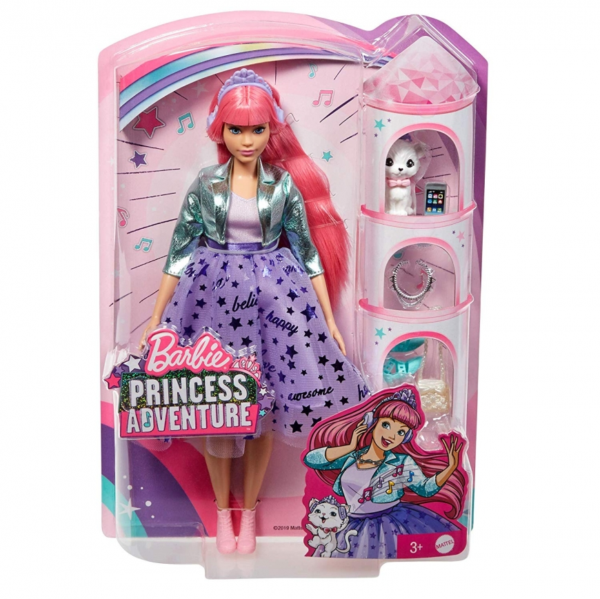 Barbie Princess Adventure doll with pink hair