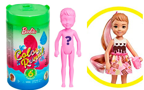 Barbie Chelsea Color Reveal dolls. Promo images, release date