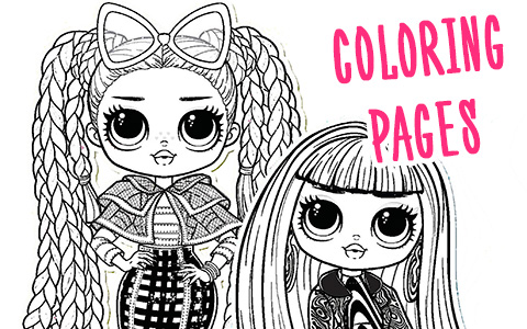 LOL OMG coloring pages