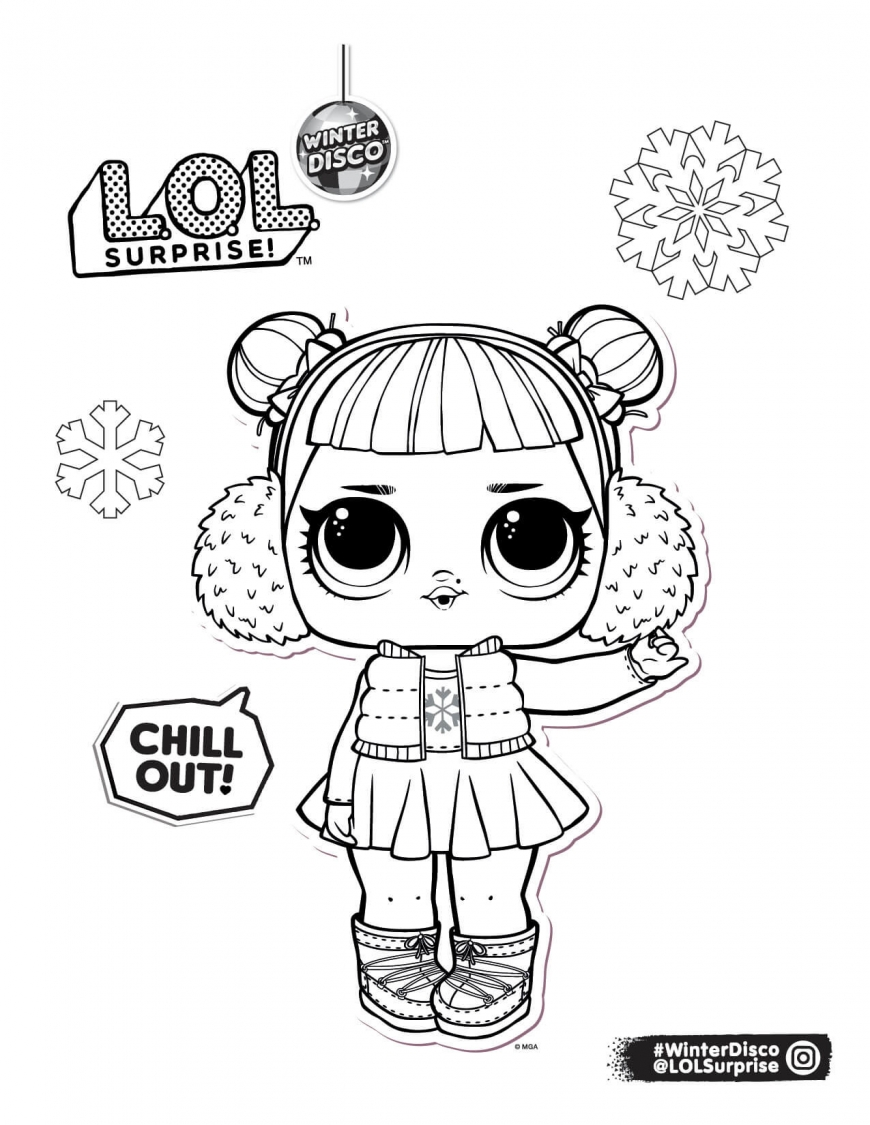 LOL Surprise winter disco coloring pages