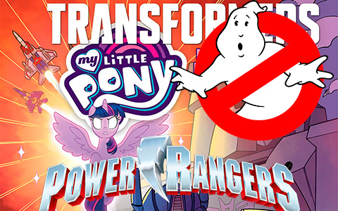 My Little Pony Crossover collection: Ghostbusters Plasmane, Transformers My Little Prime and Power Rangers Morphin Pink Pony