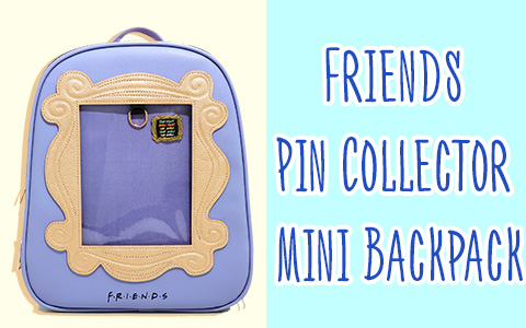 Cute Finds: Friends Pin Collector Mini Backpack with die-cut peephole frame from Monica's apartment