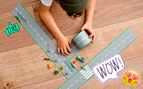 LEGO Xtra Tape Sets - Not only for LEGO fans. Kids can create removable rivers and roads