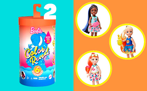 Barbie Color Reveal Chelsea series 2: Sunny N' Cool Beach-Themed