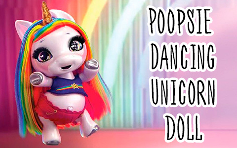 Poopsie Surprise Dancing Unicorn Rainbow Brightstar doll