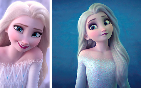 Lots of big and beautiful pictures of Elsa from Frozen 2 movie