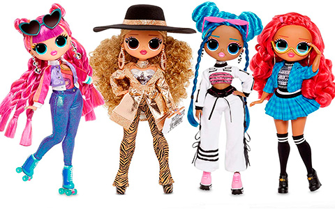 LOL OMG Series 3 dolls: Chillax, Roller Chick, Class Prez and Da Boss