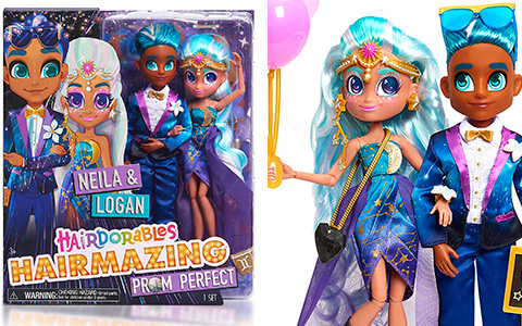 Hairdorables Hairmazing Prom Perfect 2-Pack Neila and Logan doll set is available now