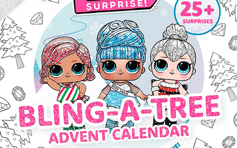 LOL Surprise Bling-A-Tree Advent Calendar 2020 - paper surprises