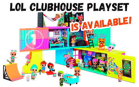LOL Surprise Clubhouse Playset with 2 exclusive tots 2020