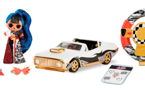 LOL Surprise RC Wheels - remote control car with exclusive LOL JK Downtown doll