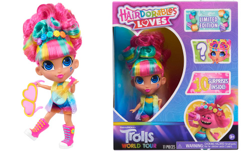 Limited Edition Hairdorables Loves Trolls World Tour doll