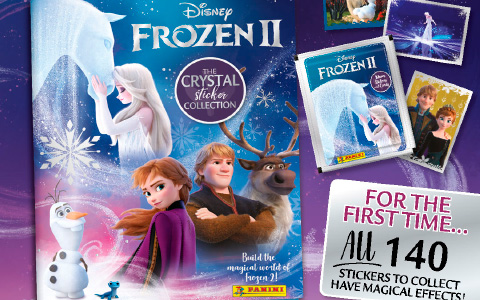 New Frozen 2 Crystal Sticker Collection Panini album with stickers