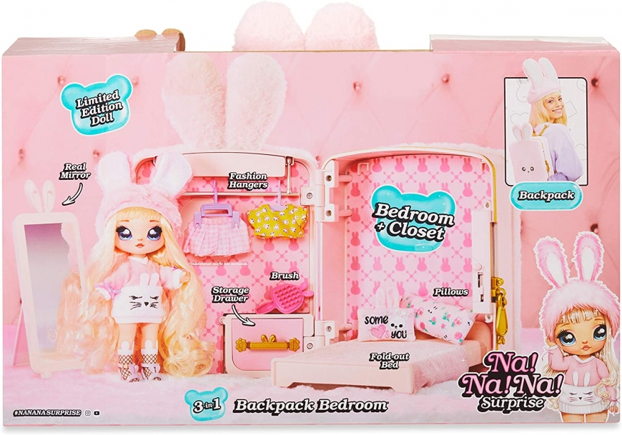 Na! Na! Na! Surprise 3-in-1 Backpack Playset-Pink