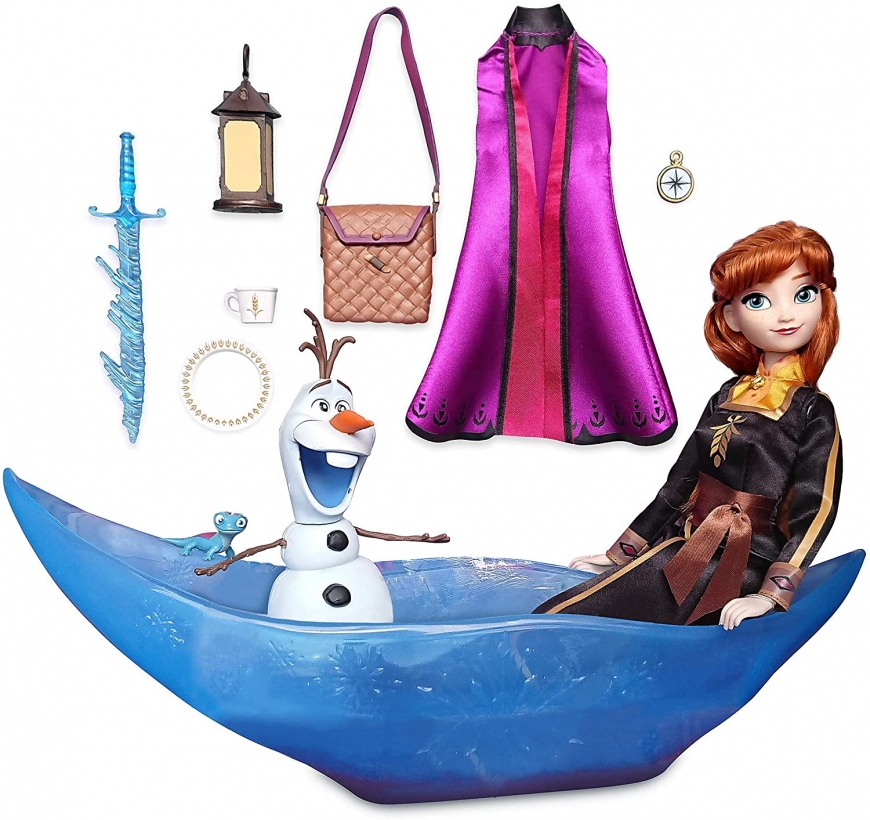 Disney Store Frozen 2 doll Anna with boat