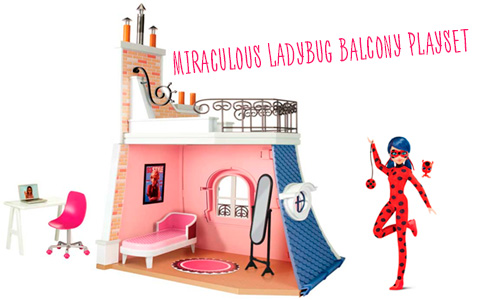 Miraculous Marinette's 2 in 1 Balcony Bedroom Playset from Playmates