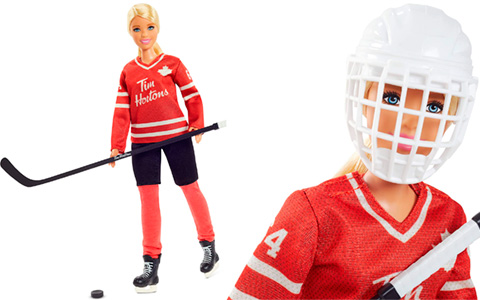 Barbie Collector Tim Hortons doll hockey player