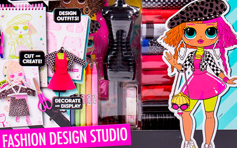 LOL OMG Fashion Design Studio - DIY Create Your Own Outfits for OMG dolls