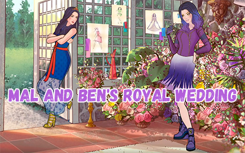 Disney Descendants 3 Mal and Ben's Royal Wedding planning animated video