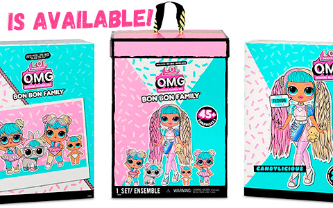 LOL Surprise OMG Bon Bon Family Pack - 2020 exclusive doll set