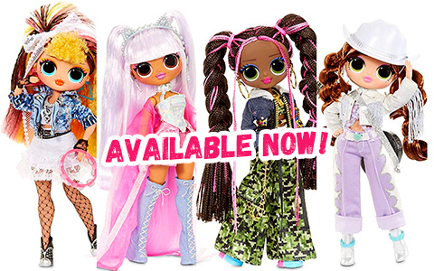 LOL OMG Remix dolls – Kitty K, Lonestar, Pop B.B., Honeylicious