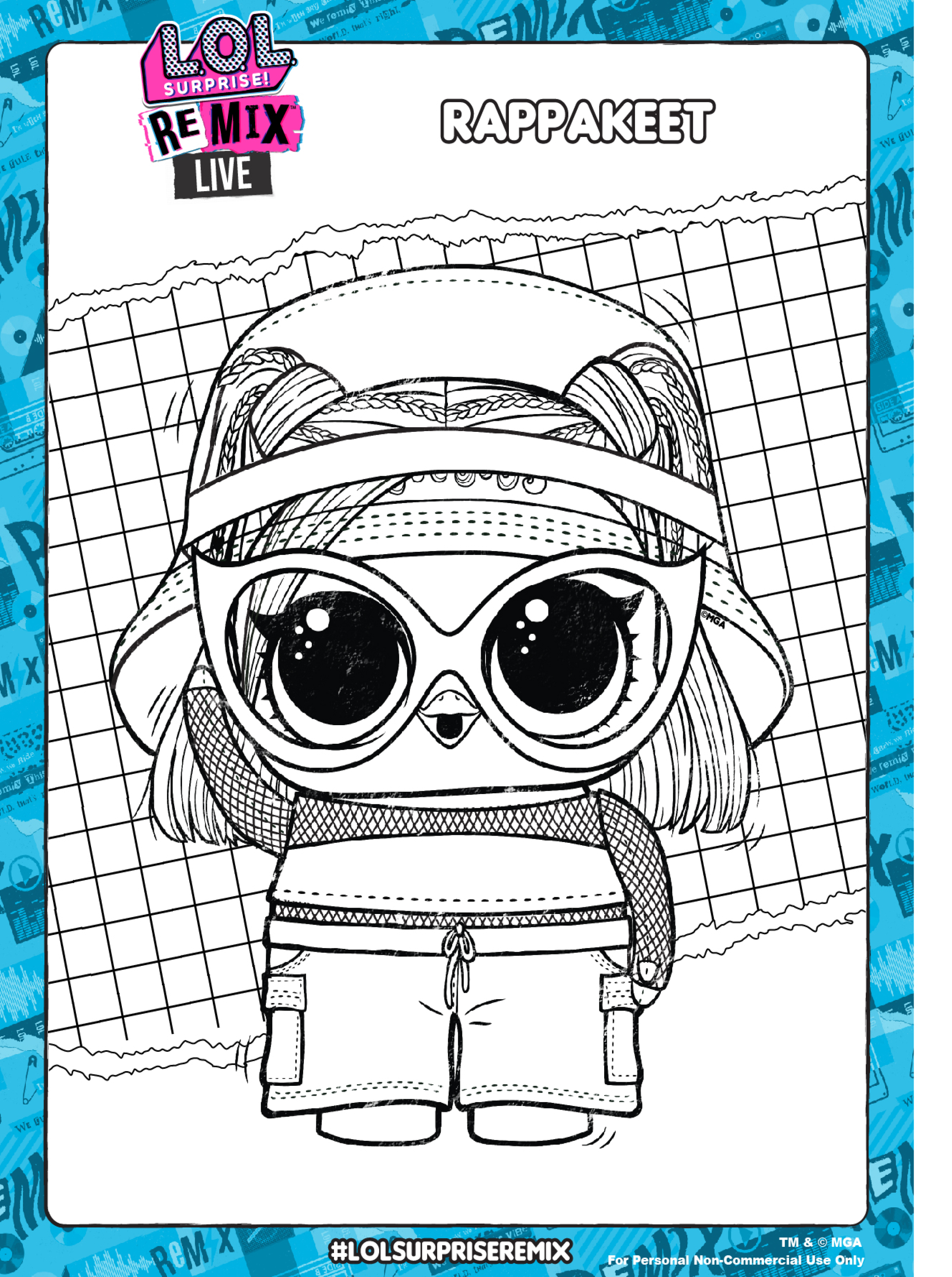 Lol Surprise Remix Coloring Pages And Activity Pages Youloveit Com