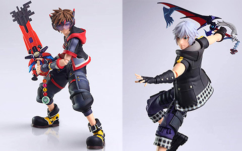 Kingdom Hearts III Bring Arts Sora, Riku, Terra and Aqua actions figures from Square Enix