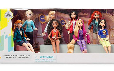 Disney Store Princess Comfy Squad full doll set with 15 dolls including Elsa and Anna