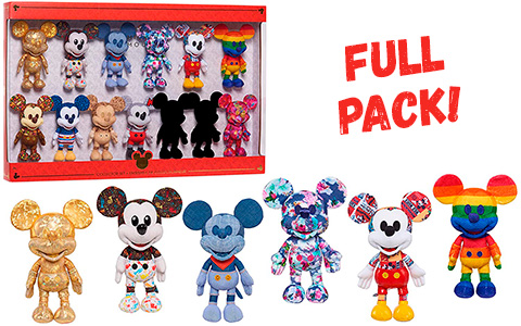 Disney Year of the Mouse limited edition plush pack with 13 Mickey Mouse plush toys