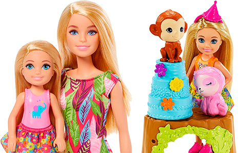 Barbie and Chelsea The Lost Birthday dolls and playsets