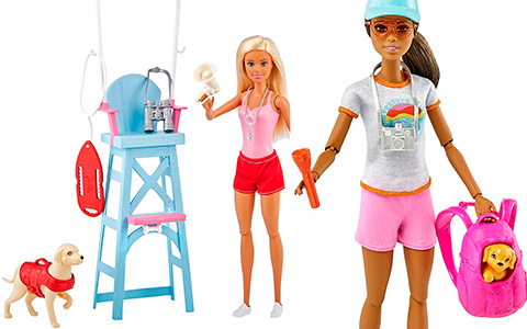 New Barbie 2021 doll Playsets: Lifeguard, Pediatrician, Veterinarian, Tourist and much more