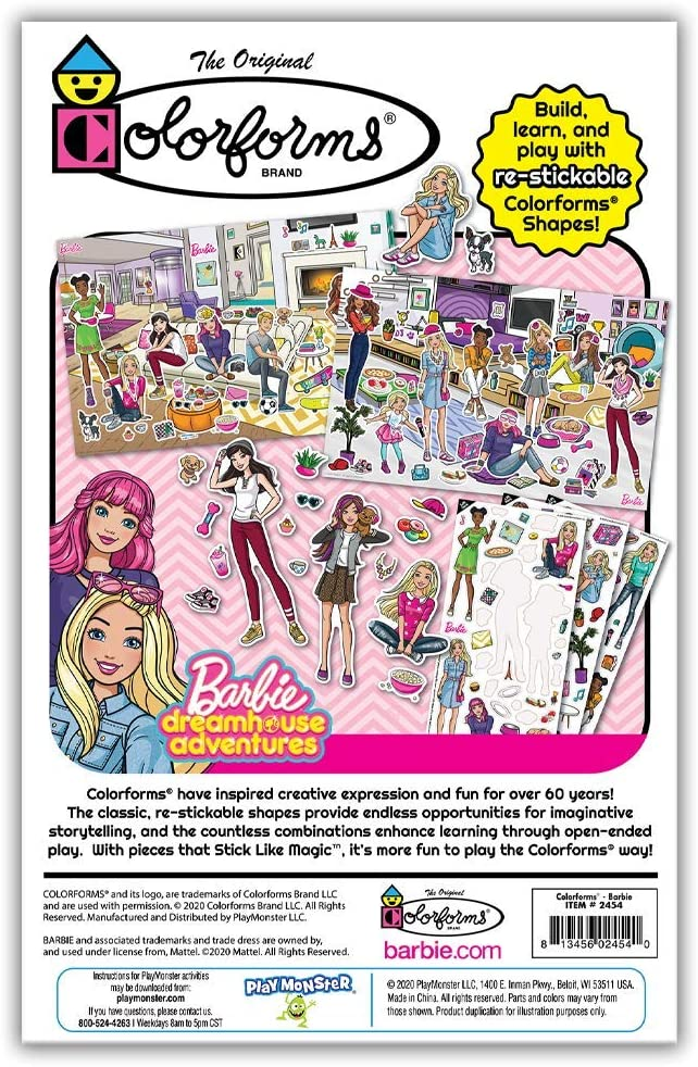 Colorforms Playset Barbie stickers