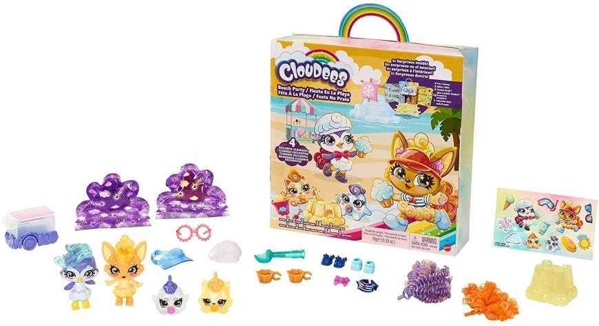 Mattel Cloudees Beach Party set