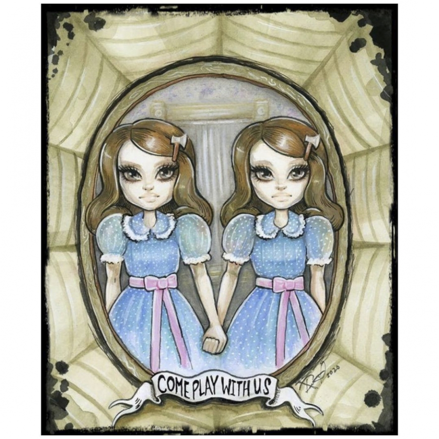 The Monster High Pennywise and Grady Twins dolls box art