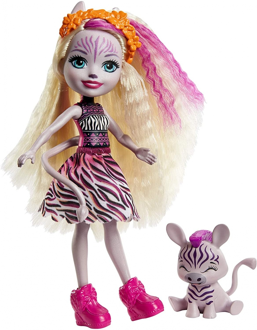 Enchantimals Zadie Zebra doll with pet named Ref ...