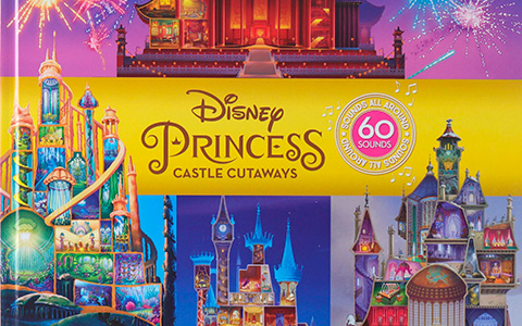 Disney Princess Castle Cutaways Sound Book with Castles 10 Maps and 60 Sounds
