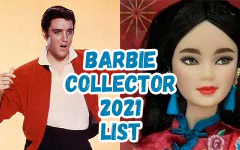 List of upcoming Barbie Collector Signature dolls in 2021. Barbie David Bowie, Barbie Elvis Dia de Muertos Ken and more!