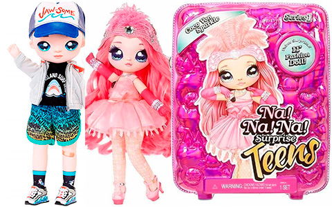 Na Na Na Surprise Teens Coco Von Sparkle and Quinn Nash Shark dolls are available for preorder