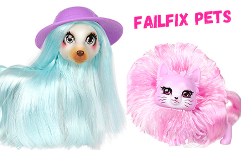 Fail Fix Pets GlamaPony, Qtee.Kitty, PreppiPaws and ArteePup