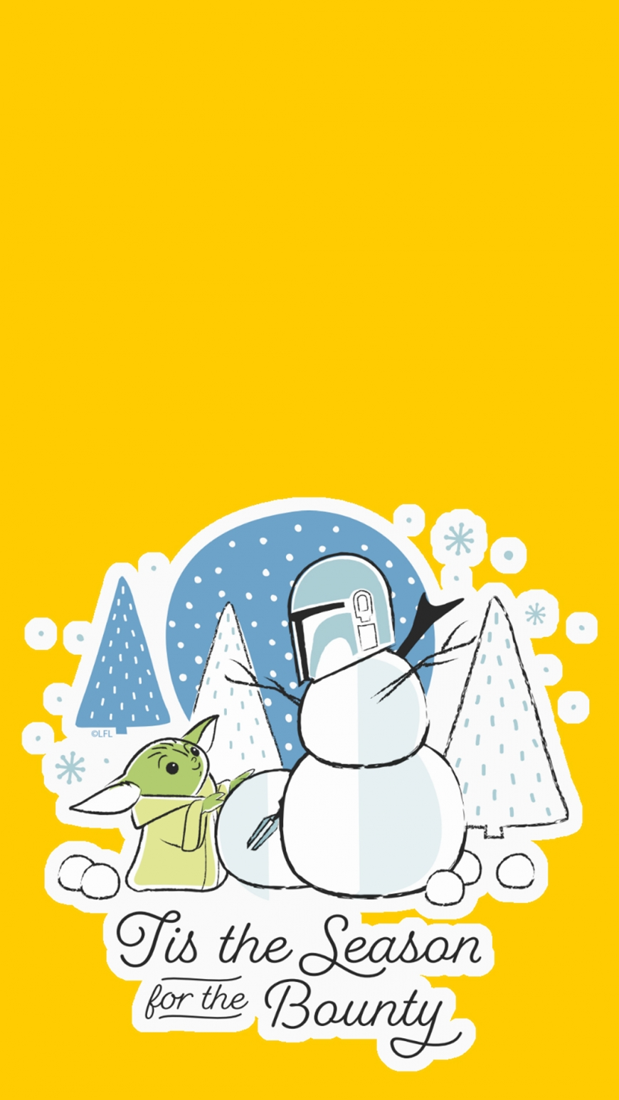 Mandalorian The Child Christmas Winter HD wallpapers for phones