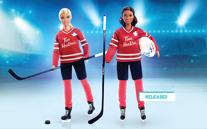Both Barbie Tim Hortons dolls are available now