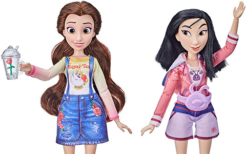 Disney Princess Comfy Squad Belle and Mulan new dolls