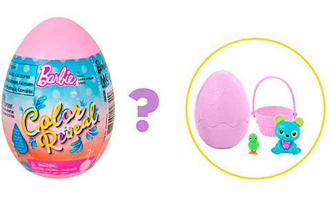 Barbie Color Reveal Easter Egg Pets