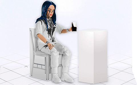 "Billie Eilish 6"" When The Party's Over action figure"