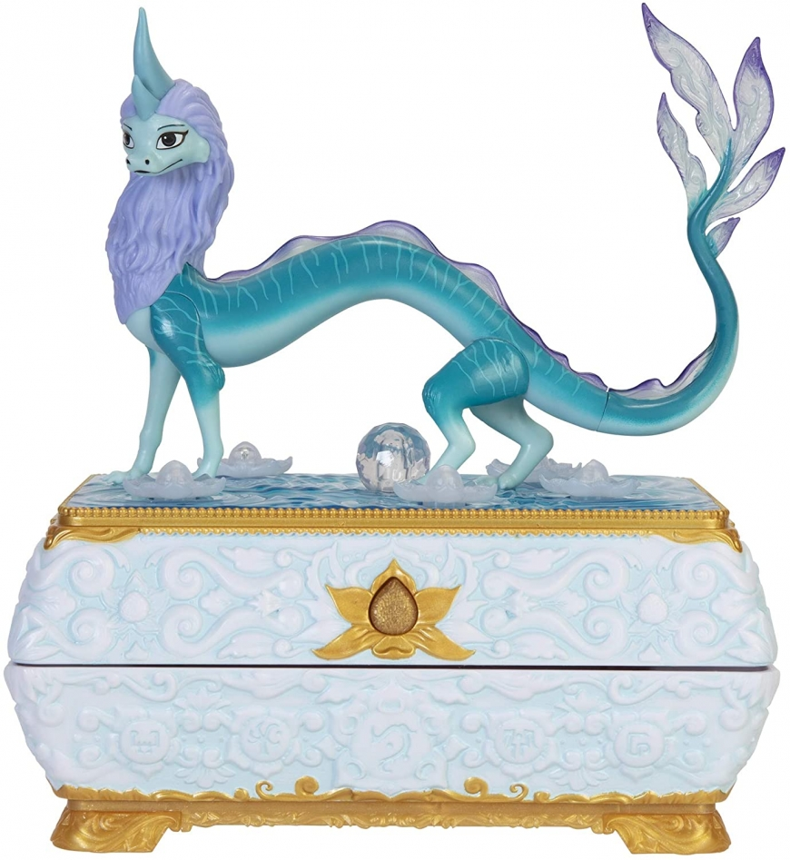 Disney Raya Sisu Dragon Chest jewelry box with color changing lights and music