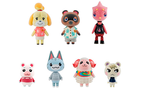 Animal Crossing: New Horizons Villager Flocked full figure set