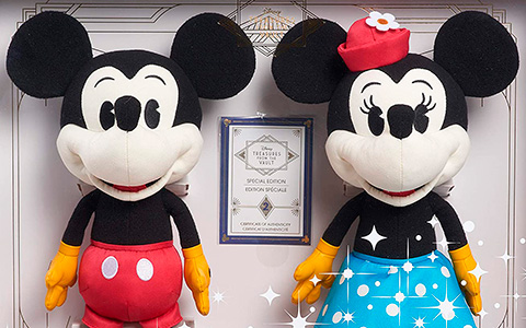 Disney Treasures from The Vault Limited Edition Mickey Mouse and Minnie Mouse Plush
