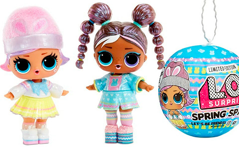 LOL Surprise Spring Sparkle easter 2021 limited edition dolls Bunny Hun and Chick-A-Dee